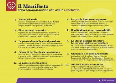 MANIFESTO DELLA COMUNICAZIONE NON OSTILE E INCLUSIVA