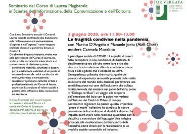 Seminario del Corso di Laurea Magistrale in Scienze dell'Informazione, della Comunicazione e dell'Editoria